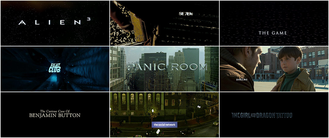 Art of the Title: David Fincher