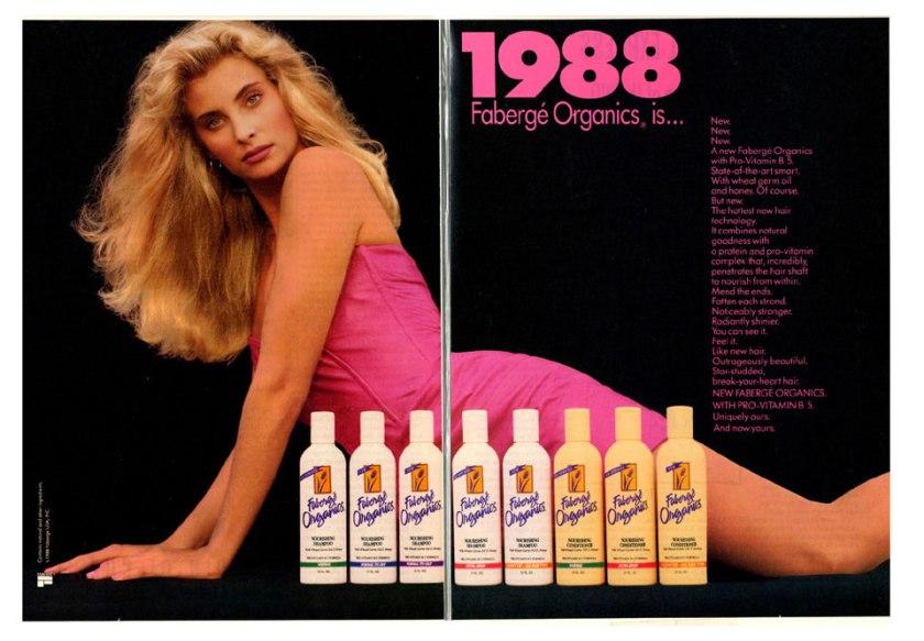 1988-06 Mademoiselle - Fabergé Organics. Magazine Ad