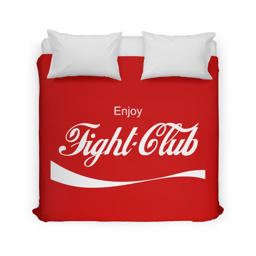 "The Official ChuckPalahniuk.net Shop - ""Enjoy Fight Club"" Duvet"
