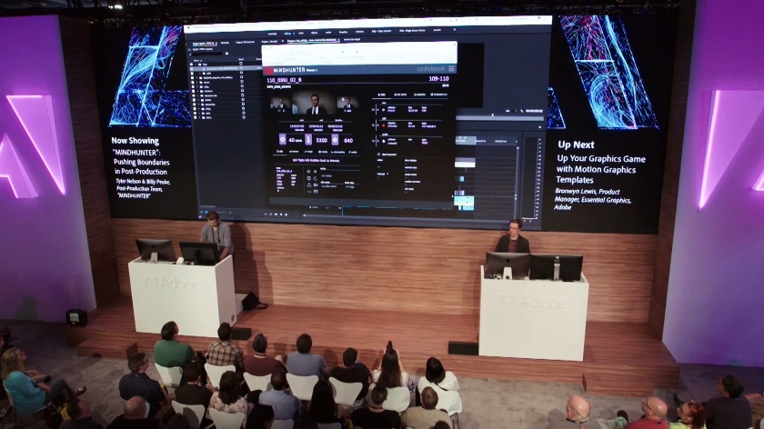 2018-04-09 Adobe Creative Cloud (YouTube) - MINDHUNTER. Pushing Boundaries in Post-Production (NAB Show 2018) 02