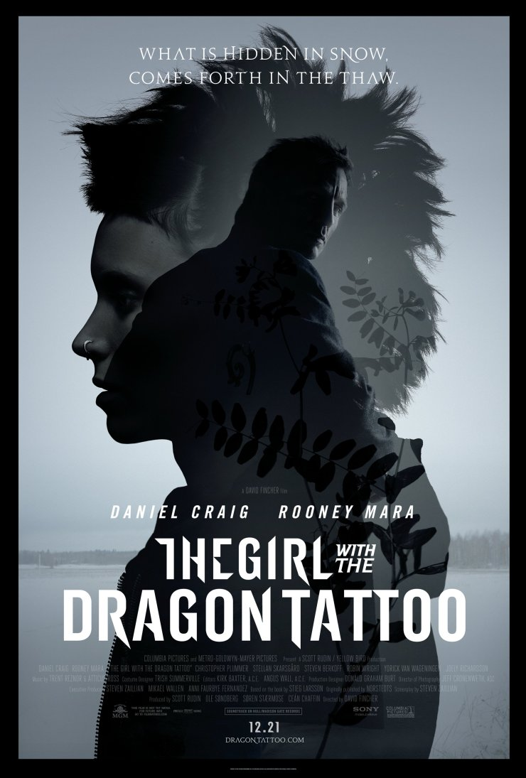 2011. The Girl with the Dragon Tattooo - Poster. US 01