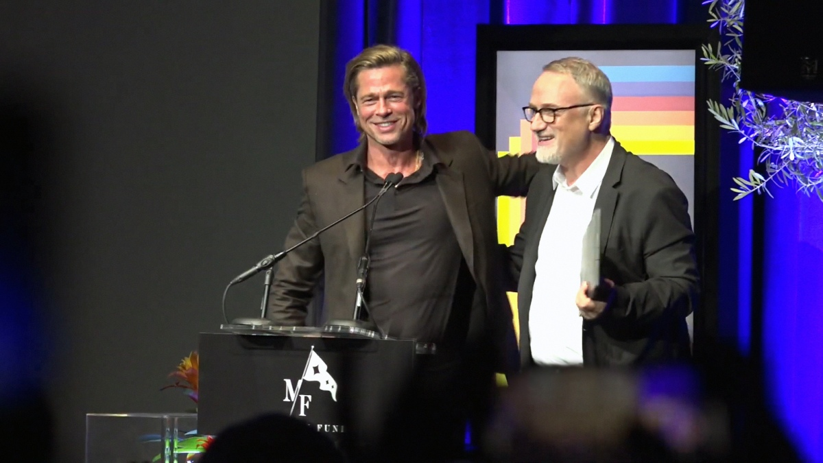 """David F*cking Fincher"" Awards Brad Pitt His Modern Master Award at SBIFF"